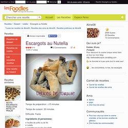 Recette de Escargots au Nutella