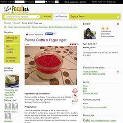 Recette de Panna Cotta à l'agar agar