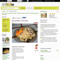 Recette de Riz jerbien (Tunisie)