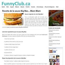 Recette de la sauce Big Mac... Miam Miam