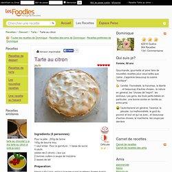 Recette de Tarte au citron