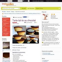 Recette de Tarte-lait-te au chocolat