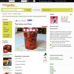 Recette de Tomates confites