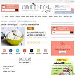 Recette de Sorbet diététique à la vanille en sorbetière