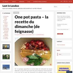 One pot pasta – la recette du dimanche (de feignasse)