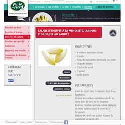 Recette aux endives : Salade d'endives à la mimolette, lardons et sa sauce au yaourt