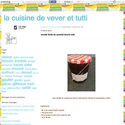 recette facile du caramel beurre salé - la cuisine de vever et tutti