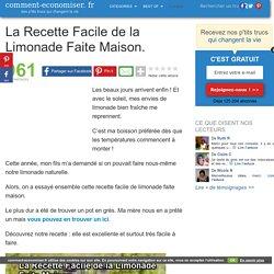 La Recette Facile de la Limonade Faite Maison.