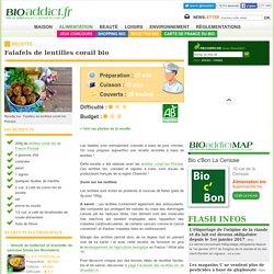Recette bio : Falafels de lentilles corail bio Priméal