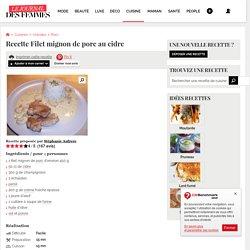 Filet mignon de porc au cidre