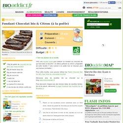 Fondant Chocolat & Citron (à la poêle)
