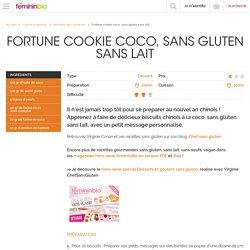 Recette Fortune cookie coco, sans gluten sans lait