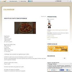 Recette de tarte tomate/fromage