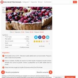 Recette Tarte aux fruits rouges facile