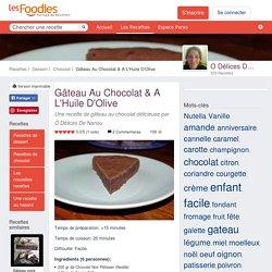 Recette de Gâteau Au Chocolat & A L'Huile D'Olive
