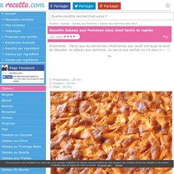 Recette GATEAU AUX POMMES SANS OEUF sur Recette .com
