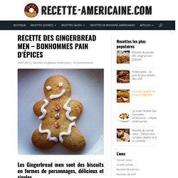 Recette des Gingerbread men - Bonhommes pain d'épices