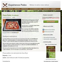 pizza paléo sans gluten et faible en glucides