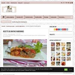 recette de gratin d'aubergines