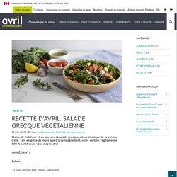 Recette d'Avril: salade grecque végétalienne