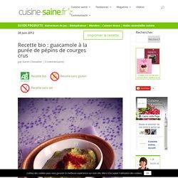 Recette bio : guacamole à la purée de pépins de courges crus