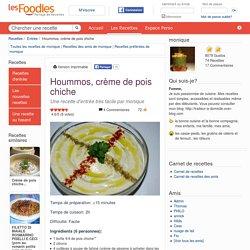 Recette de Hoummos, crème de pois chiche par monique