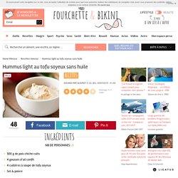 Recette de Hummus light au tofu soyeux sans huile