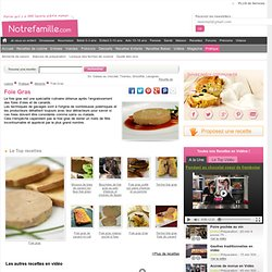 Idées recettes autour du Foie Gras