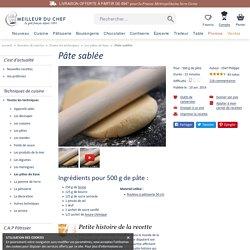 Pâte sablée - La recette illustrée - Meilleur du Chef