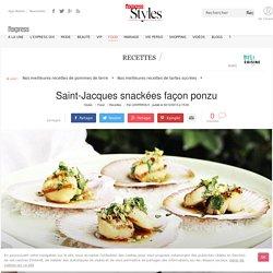 Recette de Saint-Jacques snackées façon ponzu - L'Express Styles