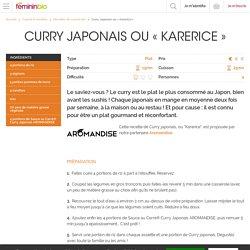 Recette Curry Japonais ou « Karerice »