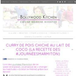 Curry de pois chiche au lait de coco {La recette des #JournéesMarmiton}