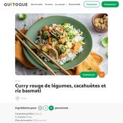 Recette Curry rouge de légumes, cacahuètes et riz basmati