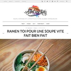 Recette rapide de Ramens aux légumes : noodles japonaises