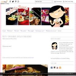 Curry de boeuf, lentilles et chou chinois