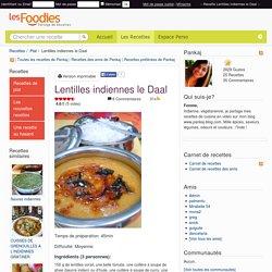 Recette de Lentilles indiennes le Daal