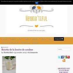 Recette de la lessive de cendres - Herbio'tiful