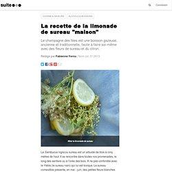 """La recette de la limonade de sureau """"maison"""""""
