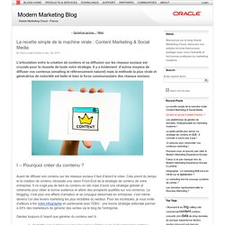 La recette simple de la machine virale : Content Marketing & Social Media (Modern Marketing Blog)