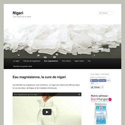 Recette de l'eau magnésienne, cure de nigari