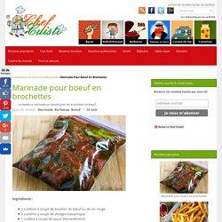 Recette facile de marinade pour brochettes de bœuf!