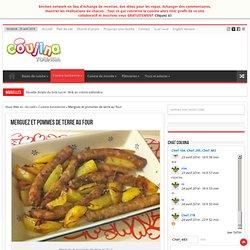 Recette Merguez et pommes de terre au four de la cuisine Tunisienne