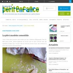 Recette de la pâte à modeler comestible d'Ecolo Crèche