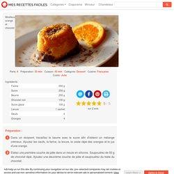 Recette Moelleux orange et chocolat facile