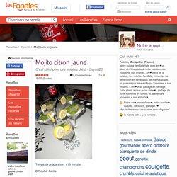 Recette de Mojito citron jaune