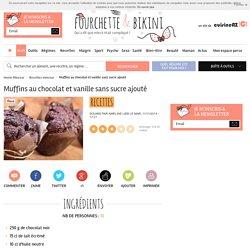 Recette de Muffins au chocolat et vanille sans sucre ajouté