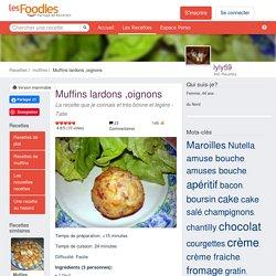 Recette de Muffins lardons ,oignons