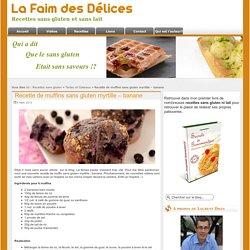 Recette de muffins sans gluten myrtille - banane