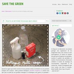 Recette du nettoyant écologique multi-usages