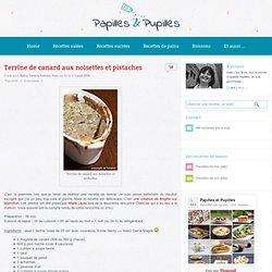 recette de Terrine de canard aux noisettes et pistaches